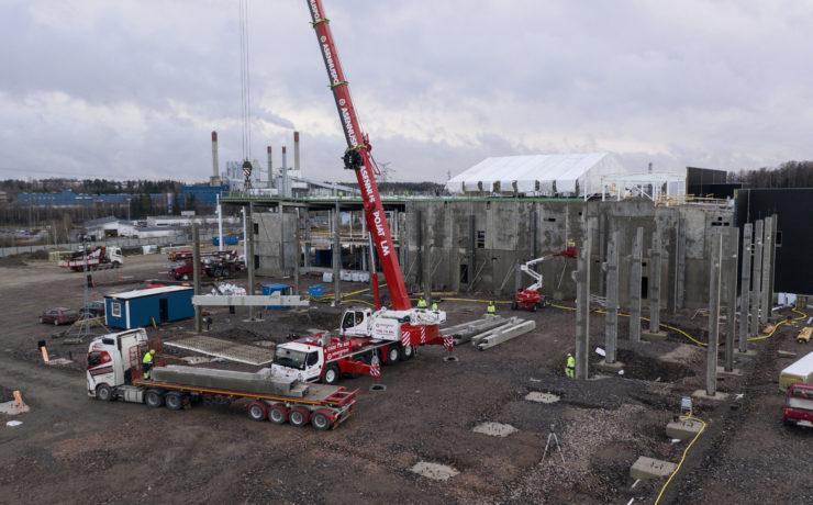 Vantaa Kovabetoni Oy, Varten työmaa, Vehon hyötyajoneuvokeskus